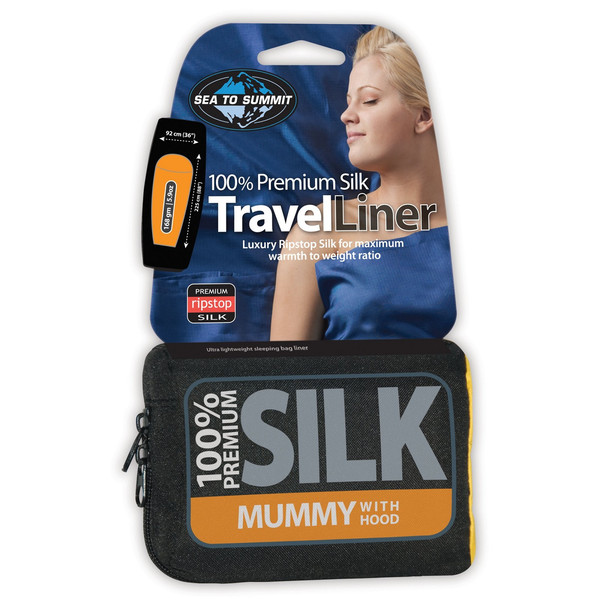 Sea to Summit SILK TRAVEL LINERS MUMMY HOODED