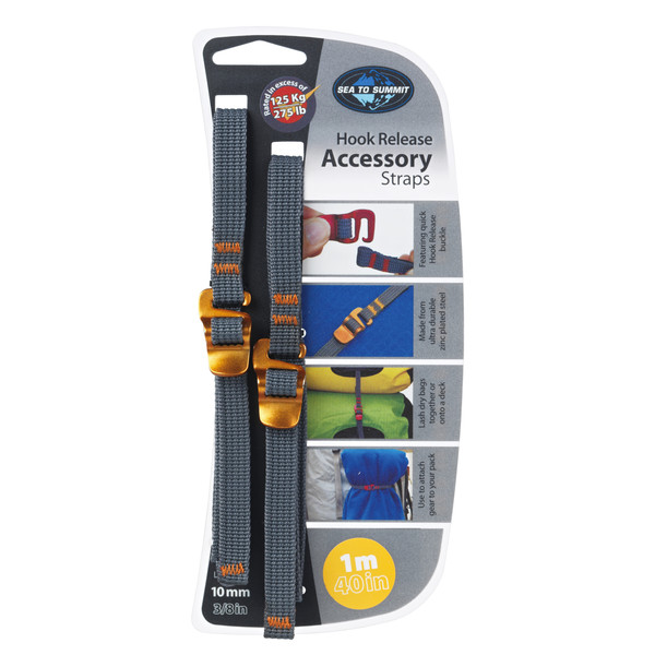 Sea to Summit TIE DOWN ACCESSORY STRAPS WITH HOOK 10MM 1M