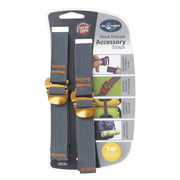 Sea to Summit TIE DOWN ACCESSORY STRAPS WITH HOOK 20MM 1M