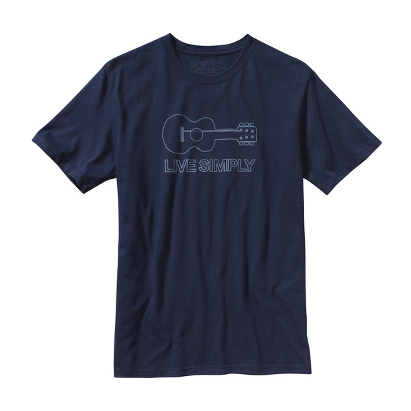 Patagonia M' SLIVE SIMPLY GUITAR COTTON T-SHIRT Miehet