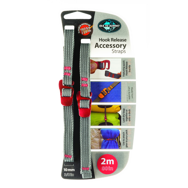 Sea to Summit TIE DOWN ACCESSORY STRAPS WITH HOOK 10MM 2M