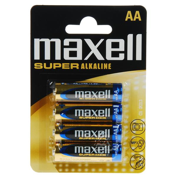 Maxell LR-6 AA SUPER ALKALINE 4PCS BLISTER