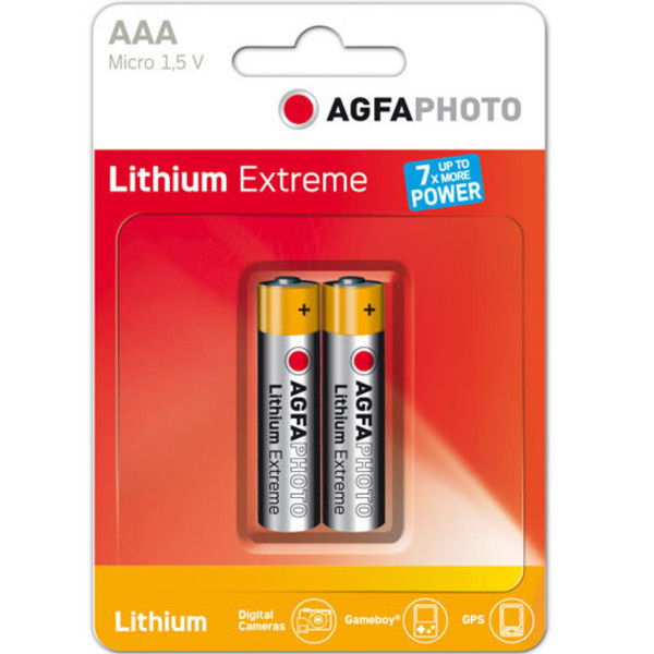 Agfa Lithium AAA EXTREME LITHIUM 2PCS BLISTER