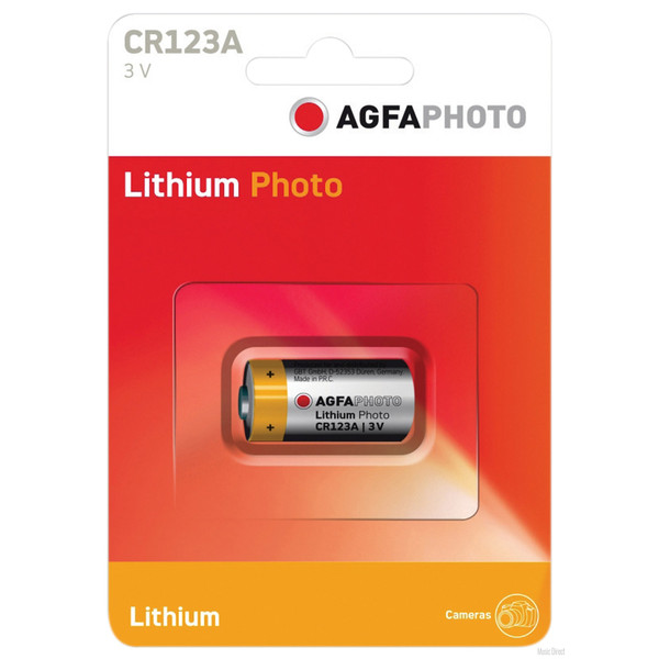 Agfa Lithium CR-123 A, 3V 1PCS BLISTER