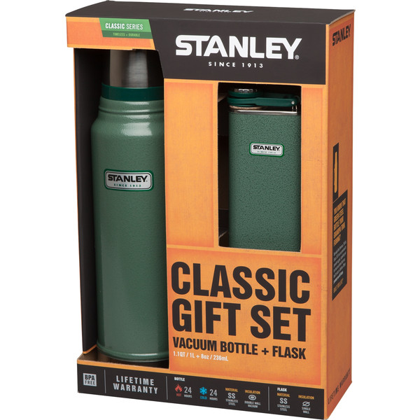 Stanley 1L VACUUM BOTTLE+236ML FLASK GIFT SET