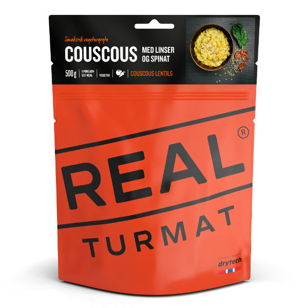 REAL TURMAT COUSCOUS WITH LENTILES AND SPINACH