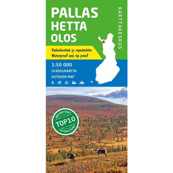 Karttakeskus PALLAS HETTA OLOS 1:50 000