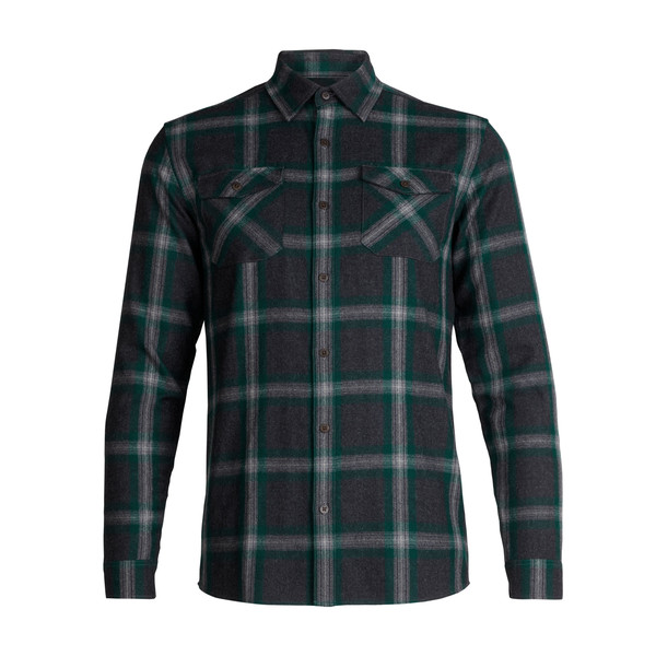 Icebreaker MENS LODGE LS FLANNEL SHIRT Miehet