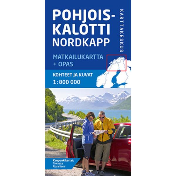 Karttakeskus POHJOISKALOTTI NORDKAPP MATKAILUKARTTA + OPAS