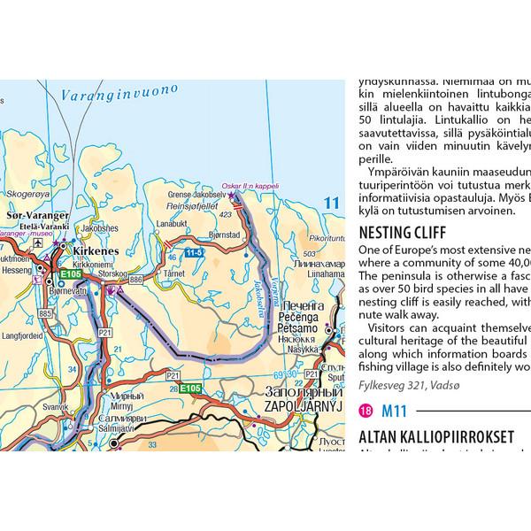 Pohjoiskalotti Nordkapp Matkailukartta Opas