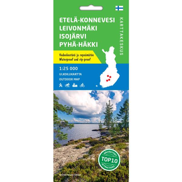 Karttakeskus ETELÄ-KONNEVESI LEIVONMAKI ISOJÄRVI PYHÄ-HÄKKI