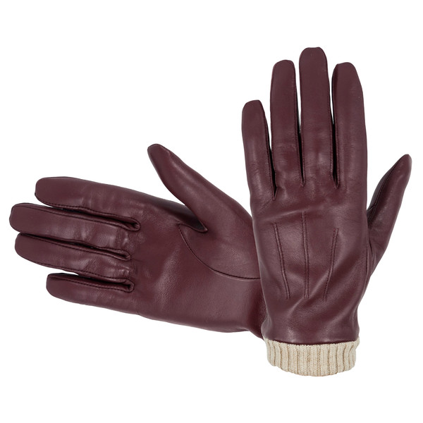Hofler TOUCHSCREEN LEATHER GLOVE RIB Naiset