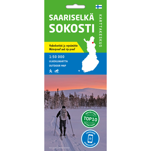 Karttakeskus SAARISELKÄ SOKOSTI 1:50 000