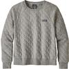 Patagonia W' S ORGANIC COTTON QUILT CREW Naiset - DRIFTER GREY