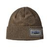 Patagonia BRODEO BEANIE Unisex - FITZ ROY TROUT PATCH: ASH TAN