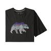 Patagonia M' S BACK FOR GOOD ORGANIC T-SHIRT Miehet - BLACK W/BEAR