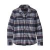 Patagonia W' S L/S FJORD FLANNEL SHIRT Naiset - CABIN TIME: SMOLDER BLUE