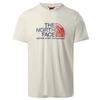 The North Face M S/S RUST 2 TEE Miehet - VINTAGE WHITE
