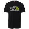 The North Face M S/S RUST 2 TEE Miehet - TNF BLACK-TNF WHITE