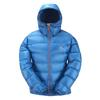 Mountain Equipment WOMEN' S XERO HOODED JACKET Naiset - ENAMEL BLUE/ALPENGLOW ZIPS