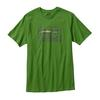 Patagonia M S SPRUCED ´73 LOGO COTTON T-SHIRT Miehet - MYRTLE GREEN