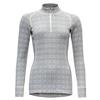 Devold ALNES WOMAN HALF ZIP NECK Naiset - GREY