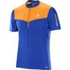 Salomon FAST WING HZ SS TEE M Miehet - SURF THE WEB/BRIGHT MARIGOLD