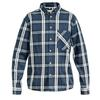 Sasta MIDLAND HEAVY FLANNEL SHIRT Miehet - DARK BLUE