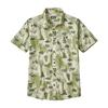 Patagonia M' S GO TO SHIRT Miehet - HALF DOME BEAR: TOASTED WHITE