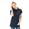 super.natural Europe AG W VACATION FUNNEL TEE Naiset - NAVY BLAZER