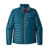 Patagonia M' S DOWN SWEATER Miehet - BIG SUR BLUE W/FIRE RED