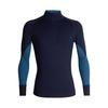 Icebreaker MENS 260 ZONE LS HALF ZIP Miehet - MIDNIGHT NAVY/PRUSSIAN BLUE