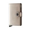 Secrid MINIWALLET METALLIC - CHAMPAGNE-BROWN