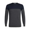Icebreaker MENS SHEARER CREWE SWEATER Miehet - MIDNIGHT NAVY/CHAR HTHR