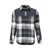 Marmot NEEDLE PEAK MID WT FLANNEL LS Miehet - BLACK/DARK STEEL