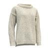 Devold NANSEN WOMAN SPLIT SEAM SWEATER Naiset - GREYMELANGE