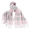 Barbour LONNEN CHECK WRAP Naiset - PINK/NEUTRAL