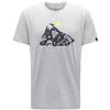 Haglöfs CAMP TEE MEN Miehet - GREY MELANGE/SIGNAL YELLOW