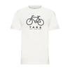 FRILUFTS GLARUS PRINTED T-SHIRT MEN Miehet - BRIGHT WHITE BICYCLE