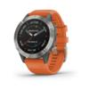 Garmin FENIX 6 SAPPHIRE, ORANGE BAND - TITANIUM GREY