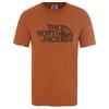 The North Face MEN'S S/S WOODCUT DOME TEE Miehet - CARAMEL CAFE
