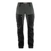 Fjällräven KEB TROUSERS W SHORT Naiset - BLACK-STONE GREY