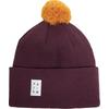 VAI-KO ILO BEANIE Unisex - BORDEAUX BROWN AUTUMN GOLD POM