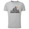 Tentree MEN' S MOUNTAIN PEAK CLASSIC T-SHIRT Miehet - HEATHER GREY