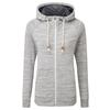 Tentree WOMEN' S BURNEY ZIP HOODIE Naiset - HI RISE GREY SPACE DYE