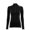 Aclima WARMWOOL MOCK NECK W/ZIP W Naiset - JET BLACK