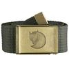 Fjällräven CANVAS BRASS BELT 4 CM Unisex - MOUNTAIN GREY