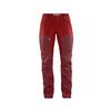 Fjällräven KEB TROUSERS CURVED W SHORT Naiset - OX RED-LAVA