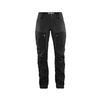 Fjällräven KEB TROUSERS CURVED W SHORT Naiset - BLACK-STONE GREY