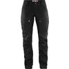 Fjällräven KEB TROUSERS CURVED W SHORT Naiset - BLACK